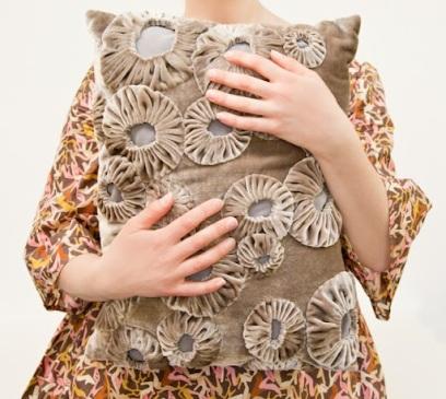 Suffolk puff cushion