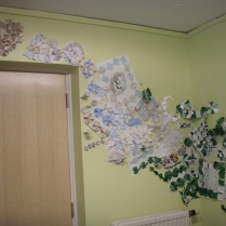 Paper folding installation