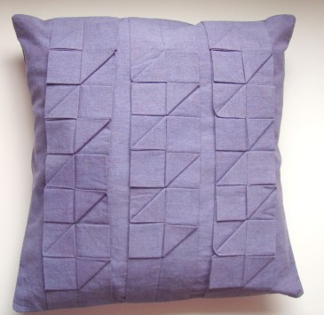 Pleated cushion pattern
