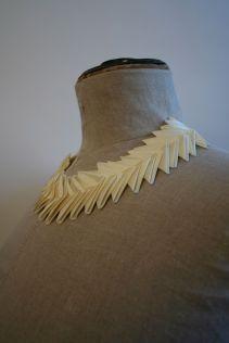 Necklace using folded ribbon