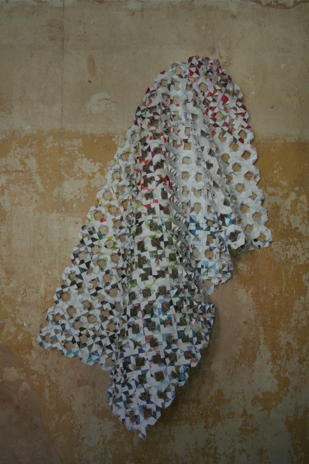 photograph of paper piece called Sewn up