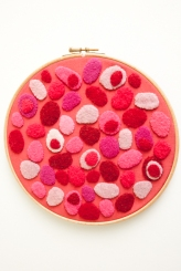 Red pebble hoop