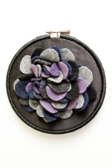 Black / purple coral hoop
