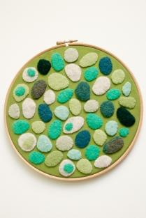 Green pebble hoop (sold)
