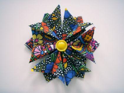 Origami fold brooch