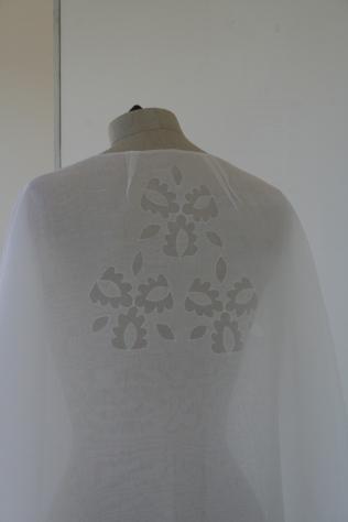 7. cutwork silk cape