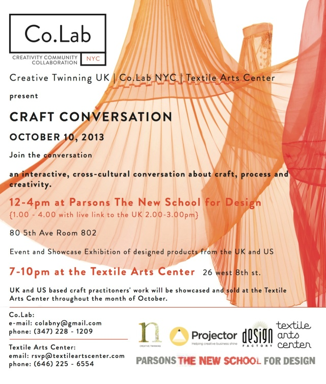 Creative Twinning - Co.Lab Craft Conversation E-vite