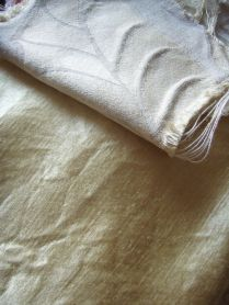 Hemp-silk & silk damask
