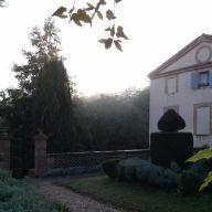Coach house at dawn