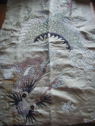 Dragon embroidery (collection of Ruth Singer)