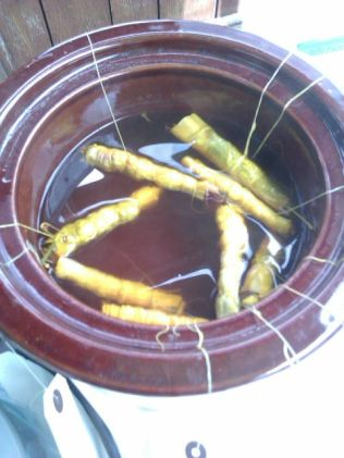 Bundles in the dye pot