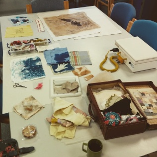 Studio desk at NCCD. Ruth Singer Narrative Threads