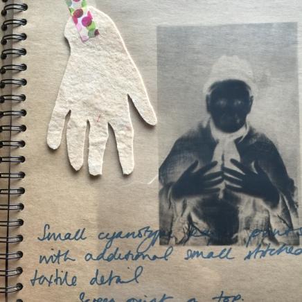 Ruth Singer Criminal Quilts sketchbook